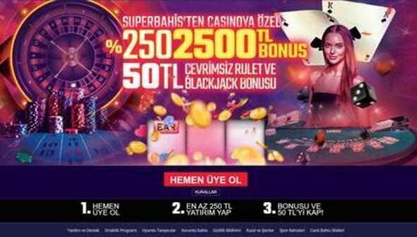 sanal casino bonusu ve şartları